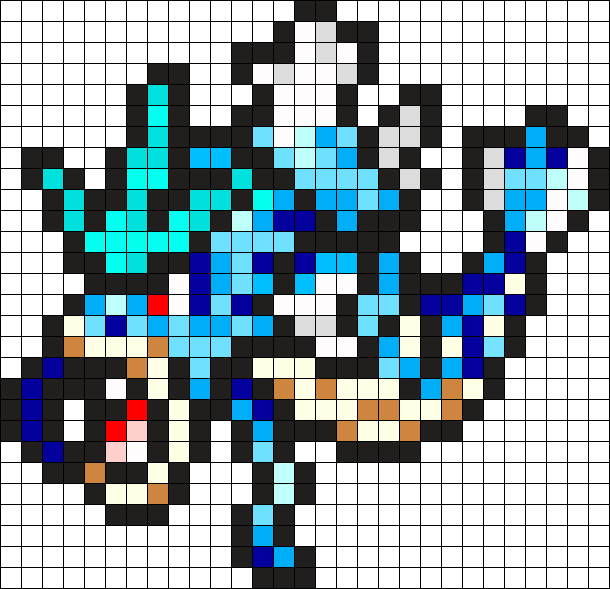 Gyarados Pokemon Bead Pattern