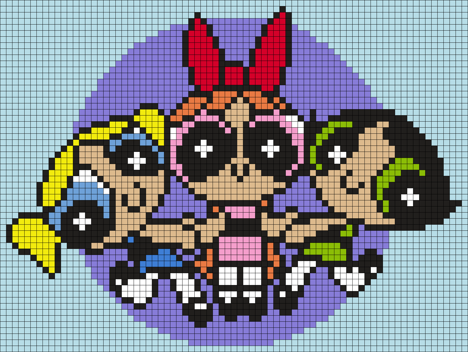 The Powerpuff Girls Perler Bead Pattern / Bead Sprite