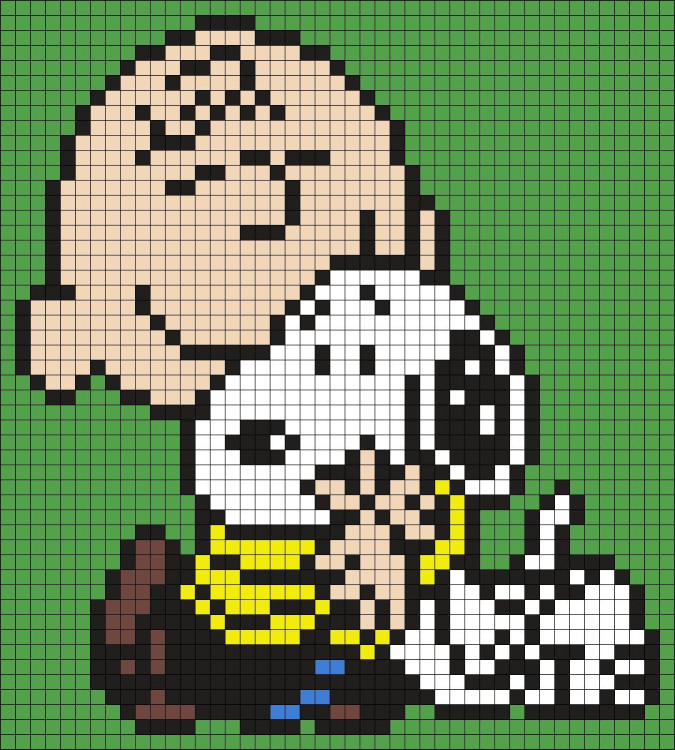Charlie Brown And Snoopy (Square)