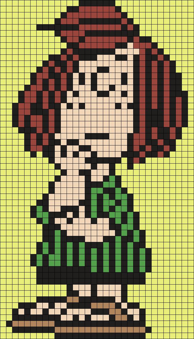 Peppermint Patty Perler Bead Pattern / Bead Sprite