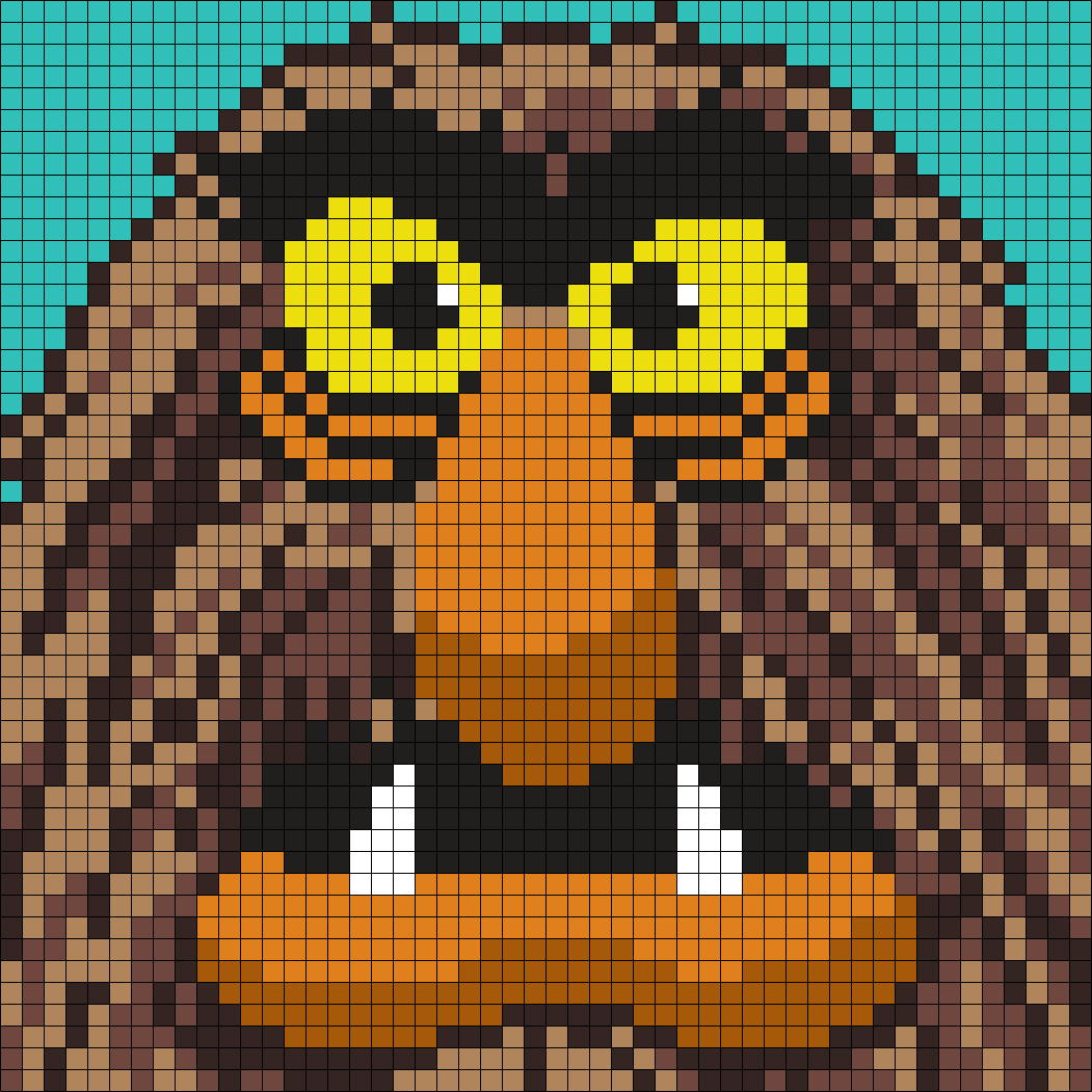 Sweetums From The Muppets Perler Bead Pattern