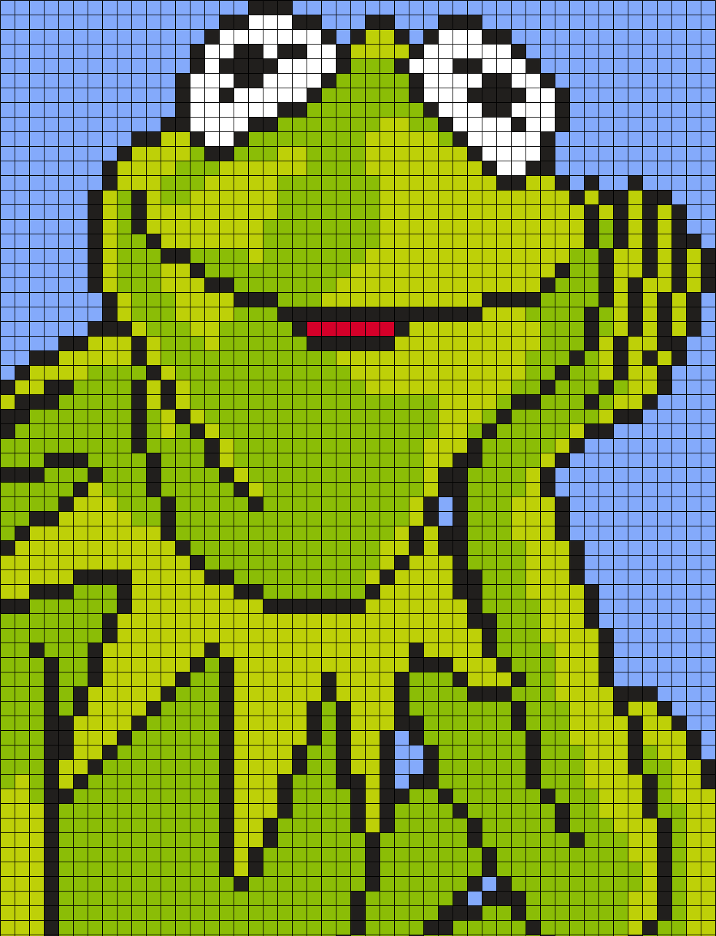 Kermit The Frog From The Muppets (Square)