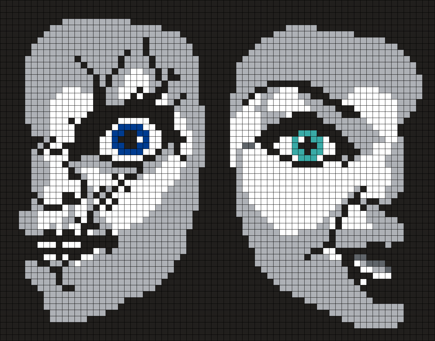 Chucky And Tiffany From Bride Of Chucky Perler Bead Pattern / Bead Sprite