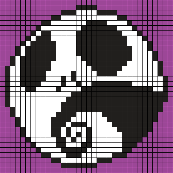 Jack / The Nightmare Before Christmas (Square) Perler Bead Pattern ...