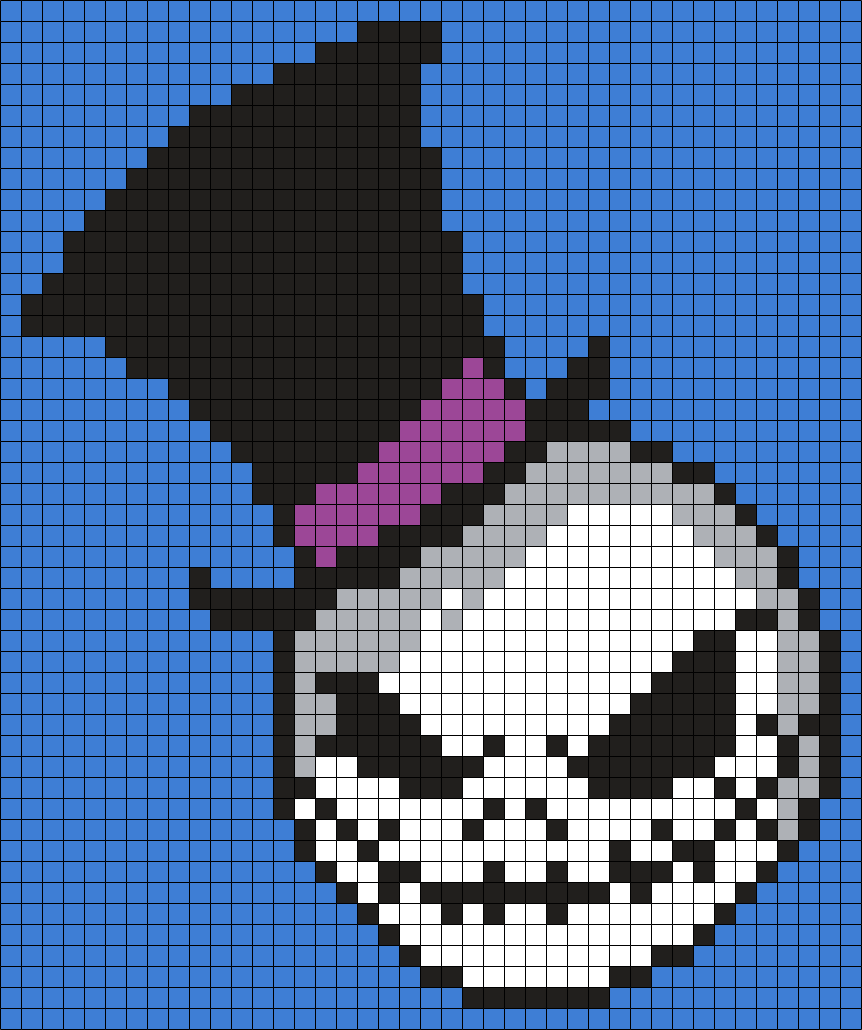 Jack In A Top Hat (The Nightmare Before Christmas) Square