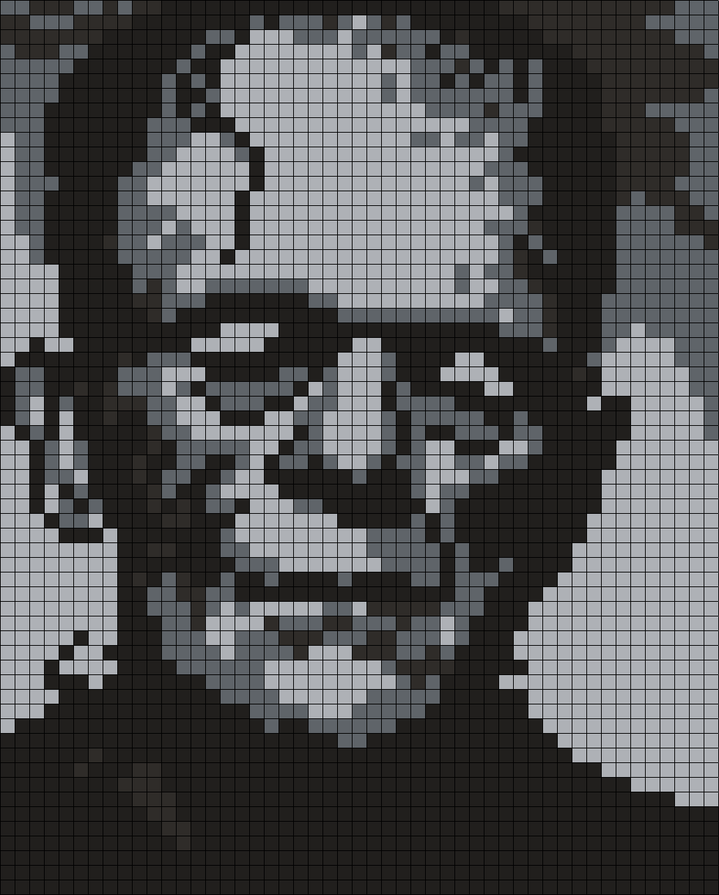 Boris Karloff As Frankenstein (Square) Perler Bead Pattern / Bead Sprite