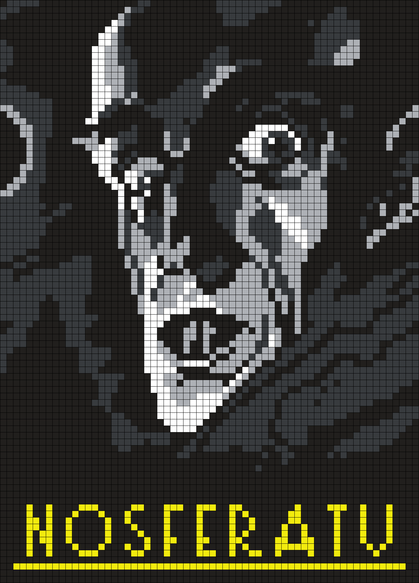 Nosferatu Poster Perler Bead Pattern / Bead Sprite