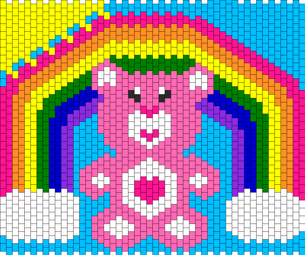 CareBear Rainbow And Sun Numbers