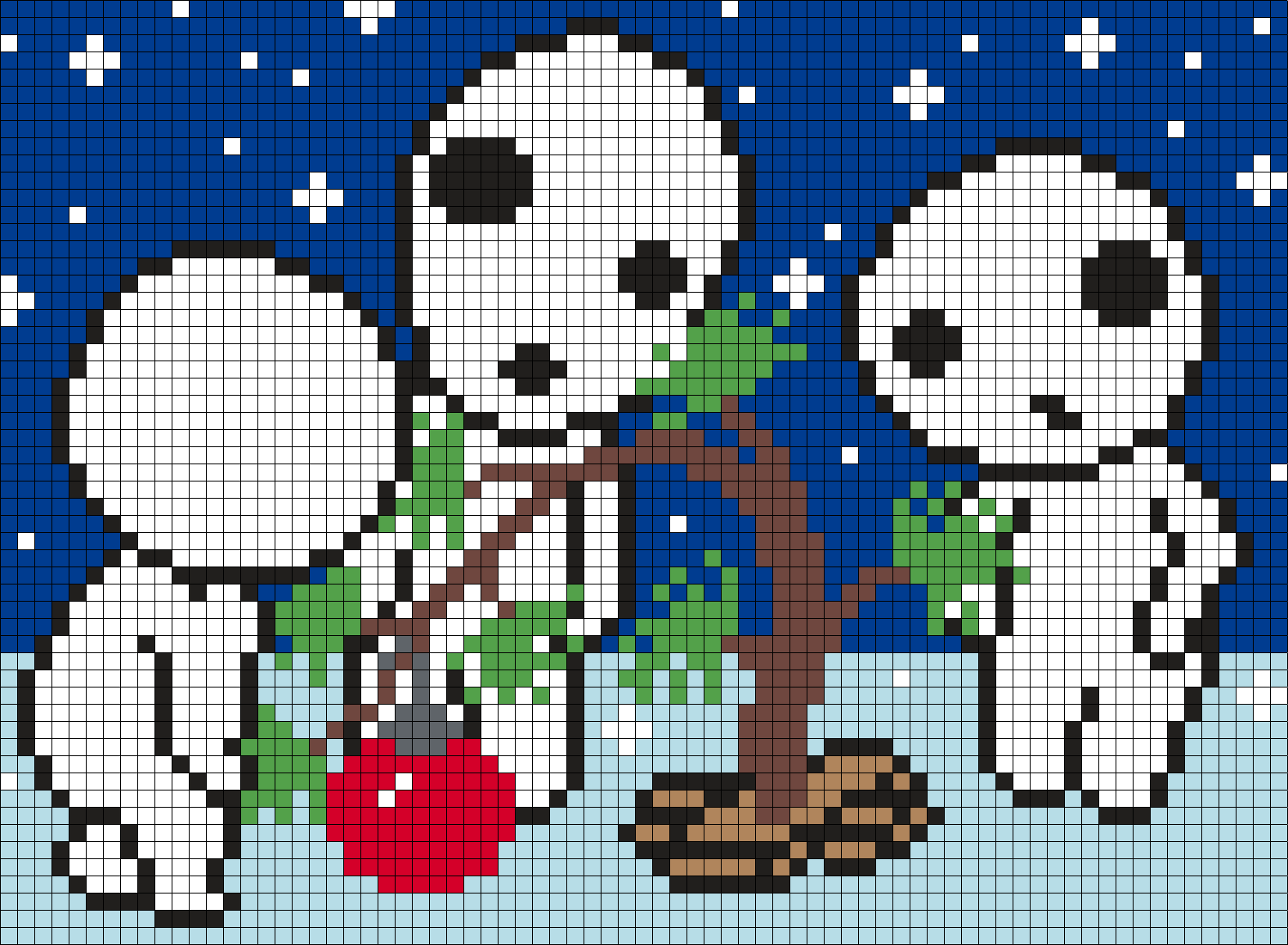 Tree Spirits Christmas Tree Perler Bead Pattern / Bead Sprite
