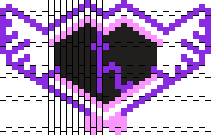 Sailor Saturn Mask Bead Pattern