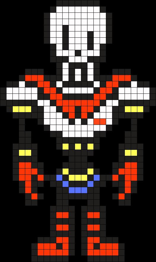 Undertale Papyrus Perler Bead Pattern / Bead Sprite