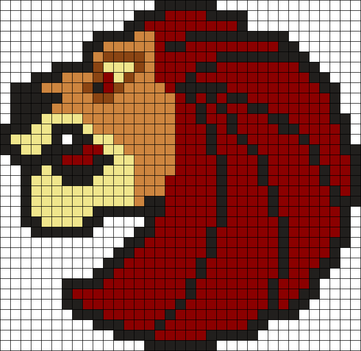 Mufasa Seven Lions Logo Fusebeads Perler Bead Pattern / Bead Sprite