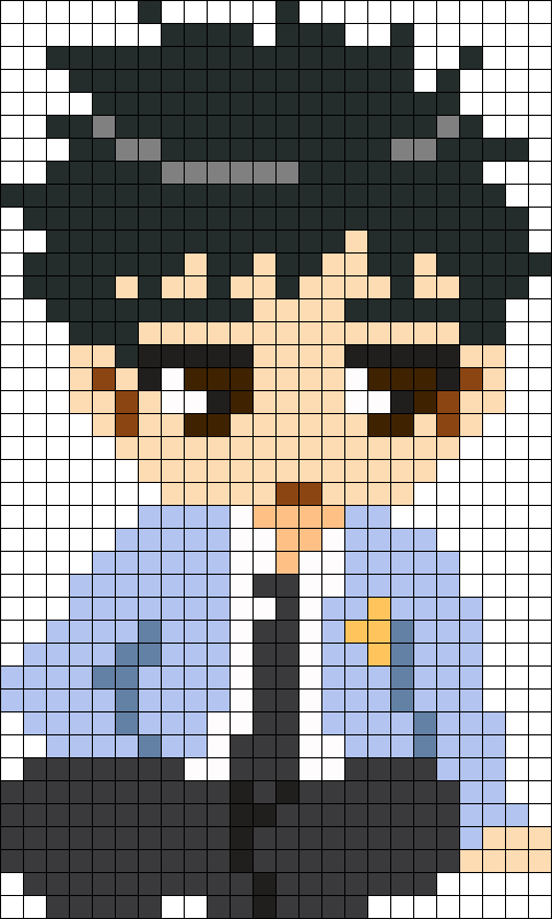 Ouran High School Host Club Mori Senpai Perler