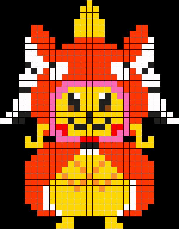 Small Magicarp Pikachu Perler