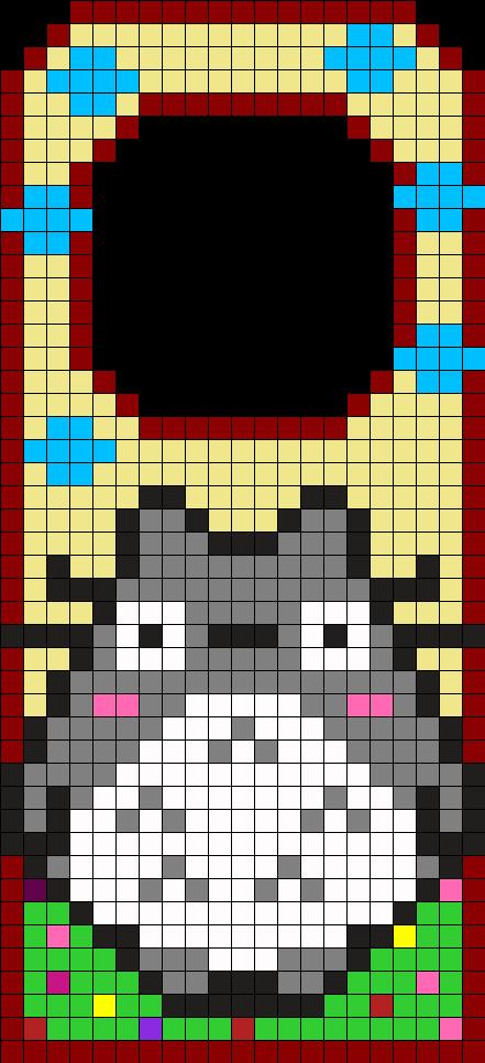 Totoro Door Hanger Perler Bead Pattern / Bead Sprite