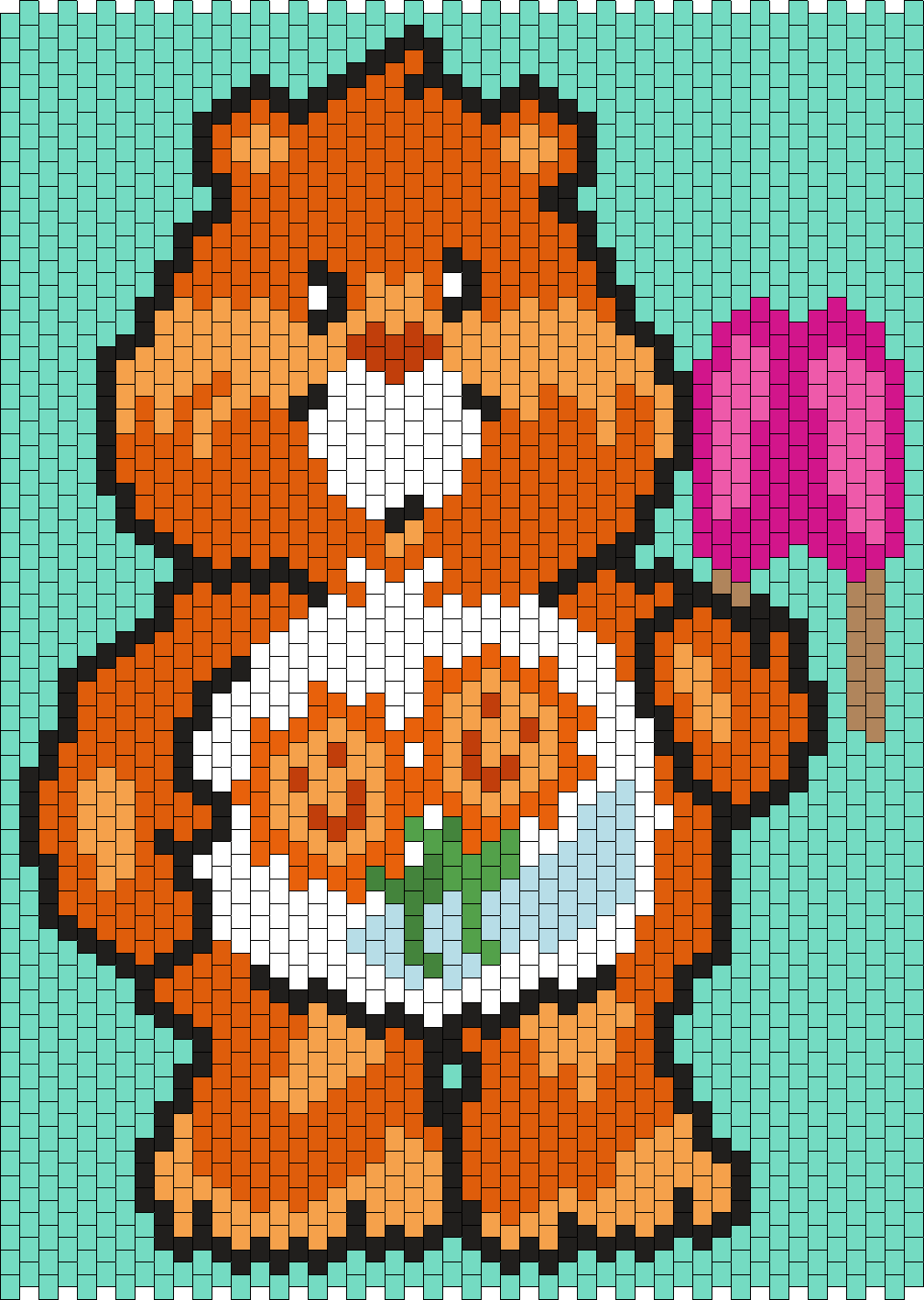 Friend Bear From The Care Bears Bead Pattern