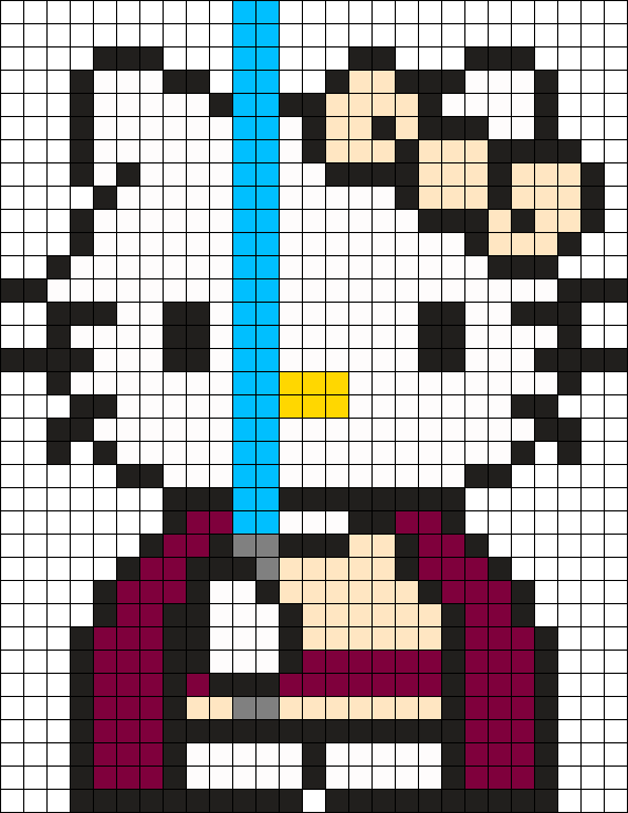 Hello Kitty Star Wars Perler Bead Pattern / Bead Sprite