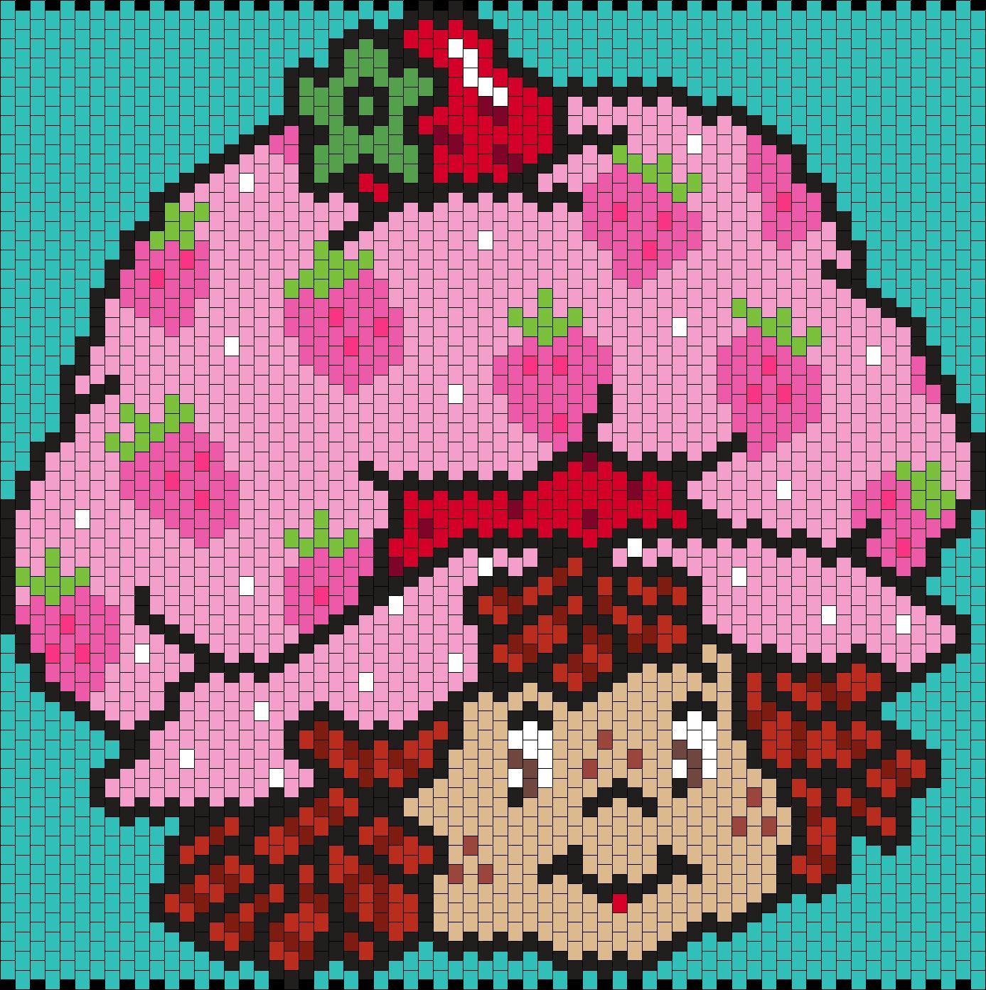 Strawberry Shortcake (Multi) Bead Pattern