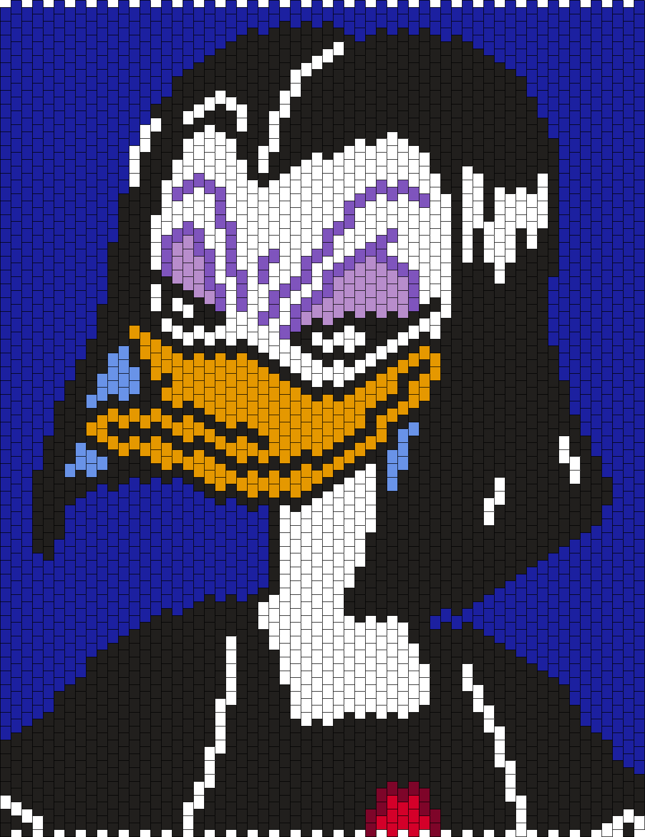 Magica De Spell From Duck Tales  Bead Pattern