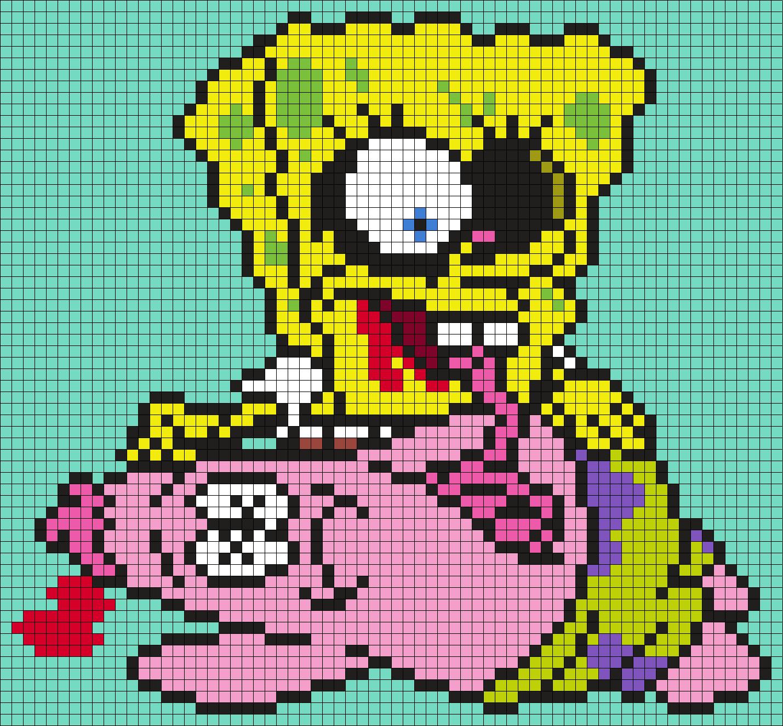 Zombie Spongebob Squarepants (square)