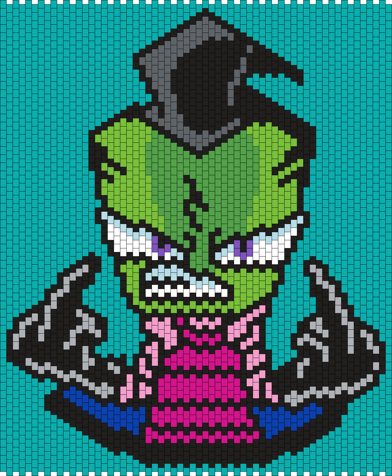 F U Zim From Invader Zim (Multi) Bead Pattern