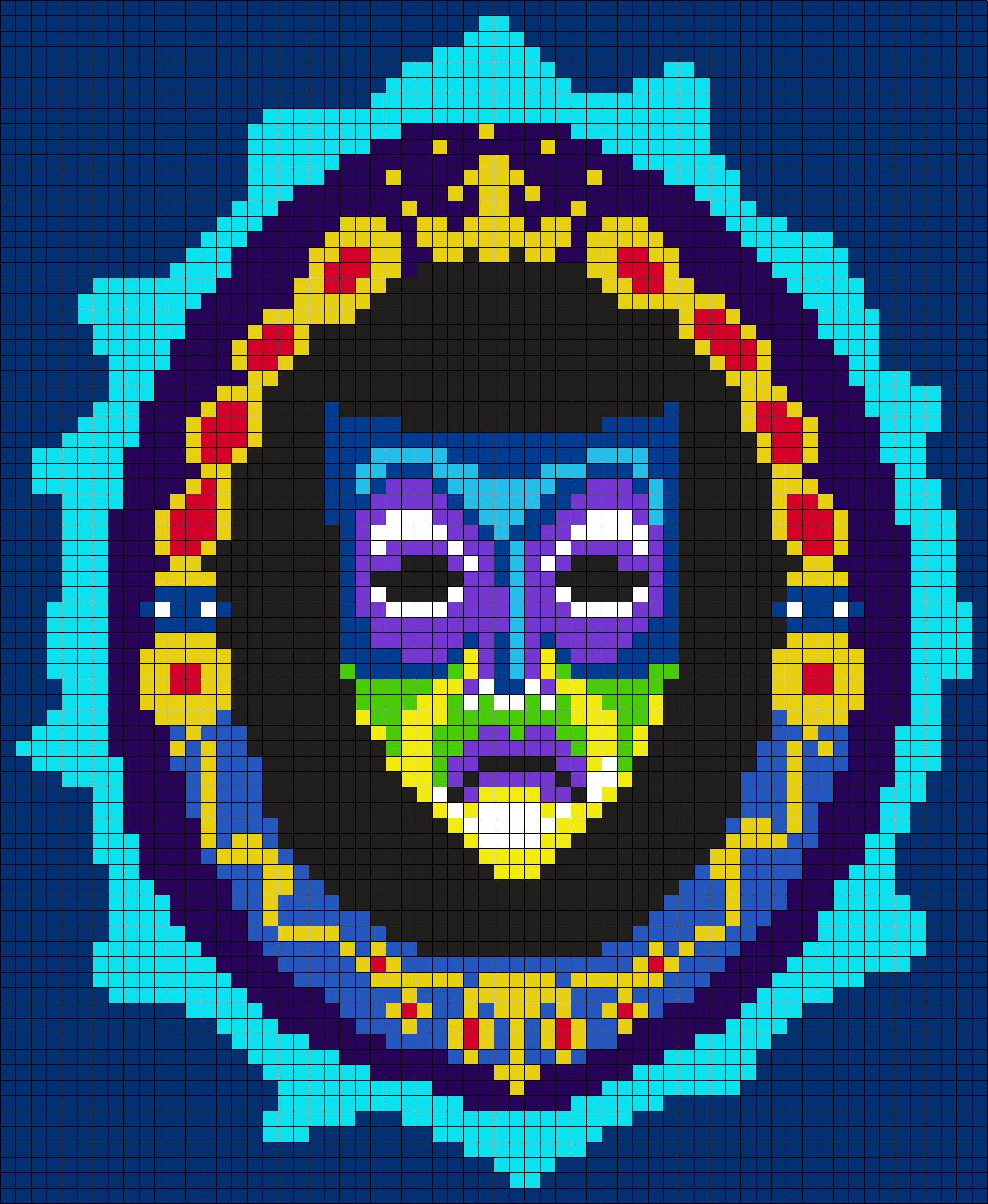 Magic Mirror From Snow White And The Seven Dwarfs Perler Bead Pattern / Bead Sprite