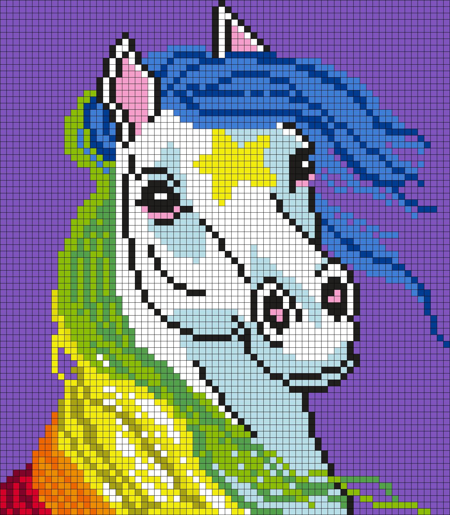 Starlite From Rainbow Brite (Square) Perler Bead Pattern / Bead Sprite
