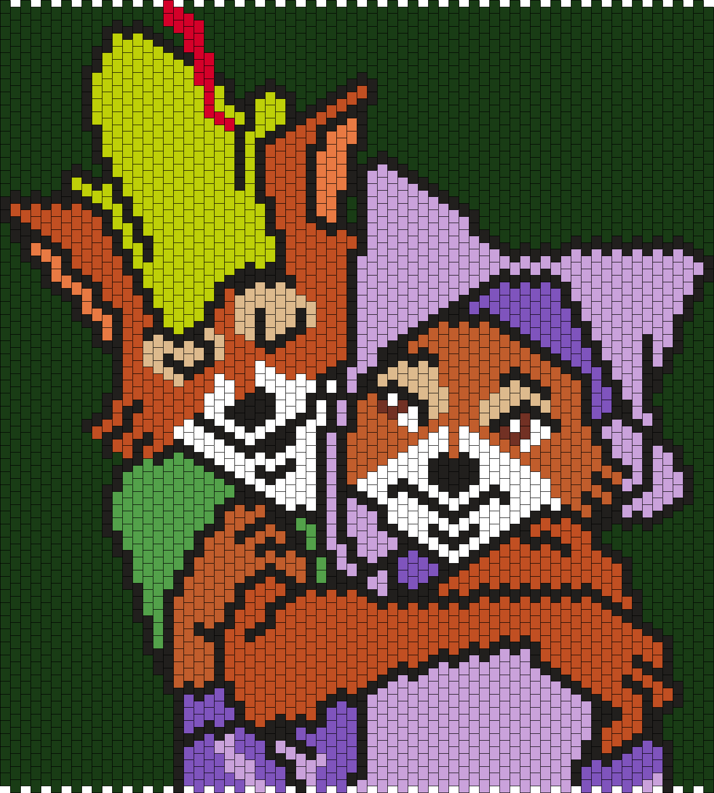 Robin Hood And Maid Marian Bead Pattern