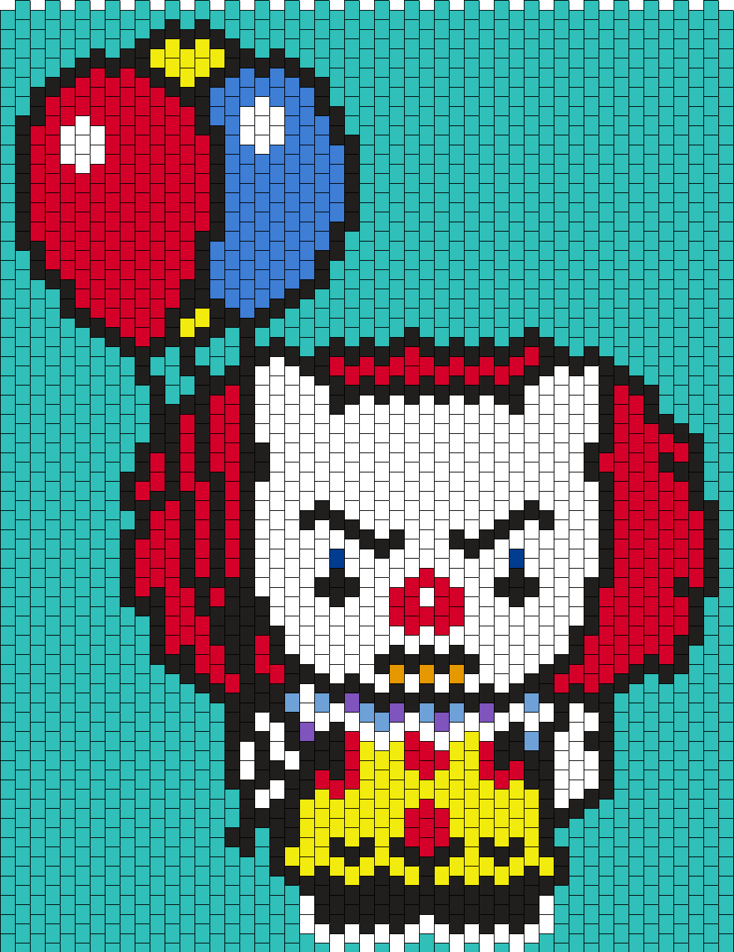 Pennywise The Clown From It Hello Kitty Bead Pattern