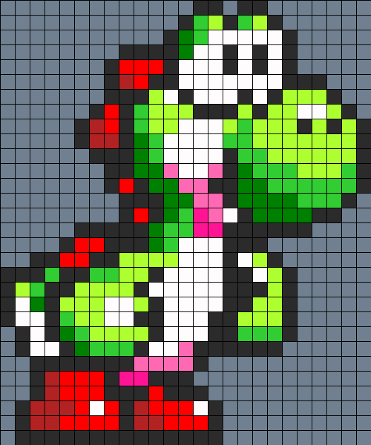 Yoshi Perler Bead Pattern Sprites Characters Fuse Patterns