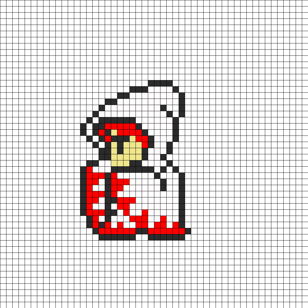 White Mage Sprite White Mage Perler Bead Pattern