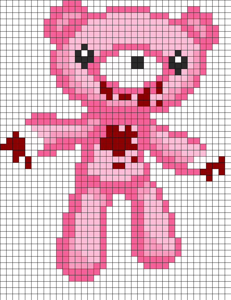 Full Body Gloomy Bear Perler Bead Pattern / Bead Sprite