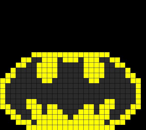 Batman Fusebead Perler Bead Pattern / Bead Sprite