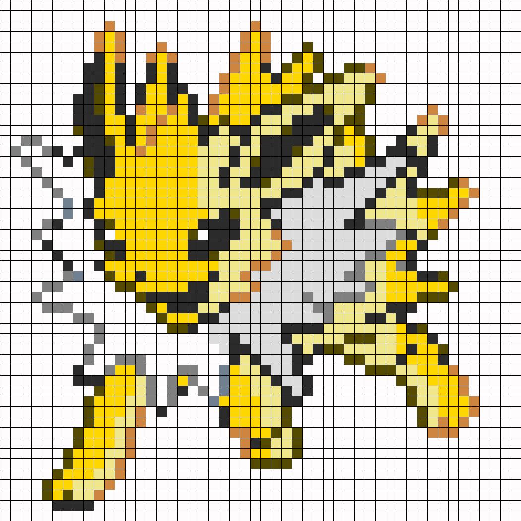 umbreon pixel art template - party pokemon on pinterest pokemon perler beads and
