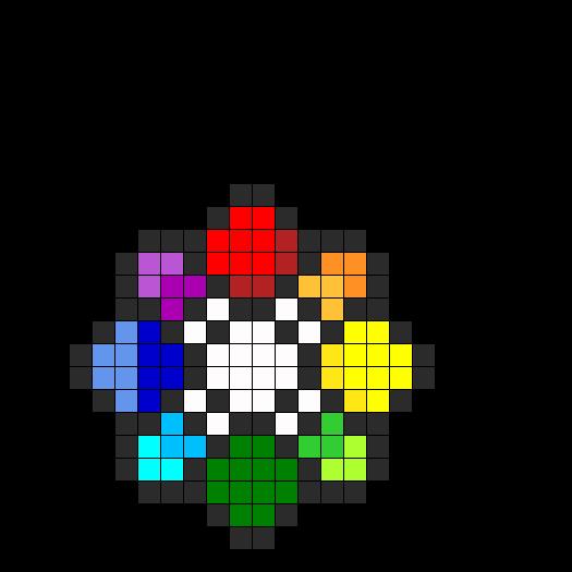 Rainbow Badge Perler Bead Pattern / Bead Sprite