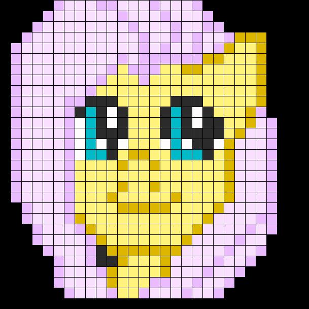 FlutterShy Perler Pattern