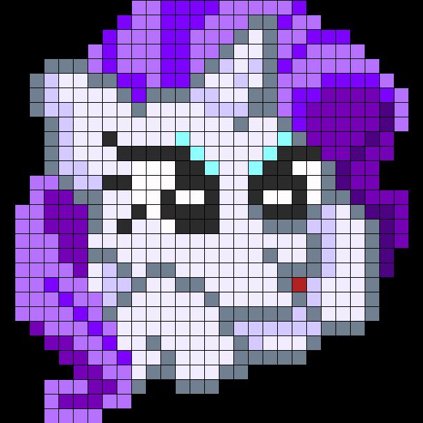 Rarity Perler Pattern Perler Bead Pattern / Bead Sprite