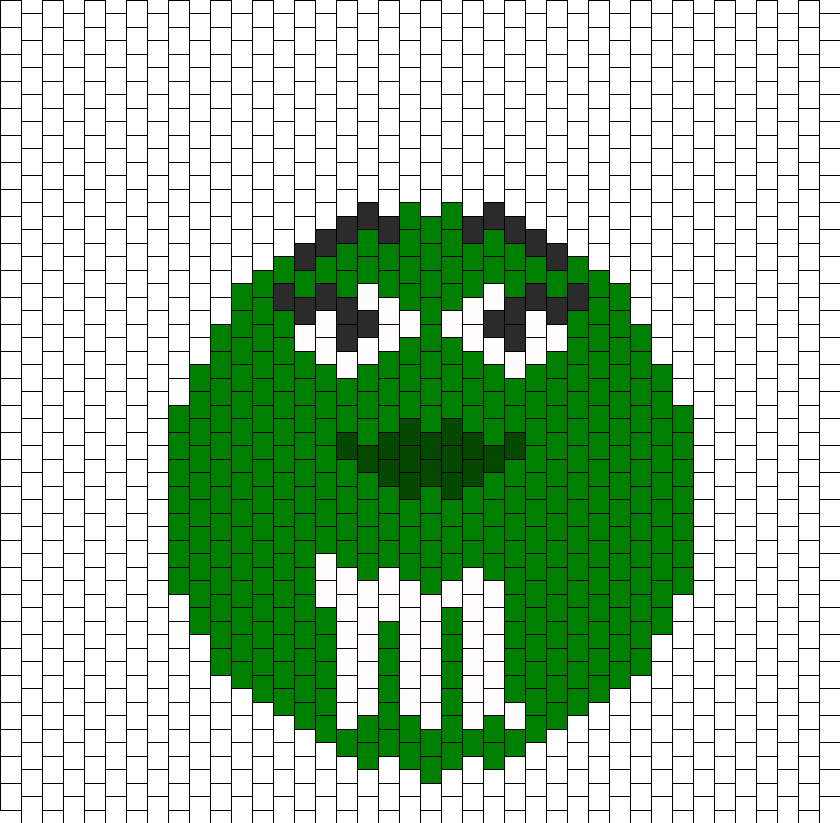 Green MM Bead Pattern