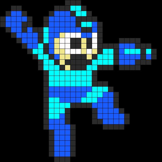 Megaman Jumping Perler Bead Pattern / Bead Sprite