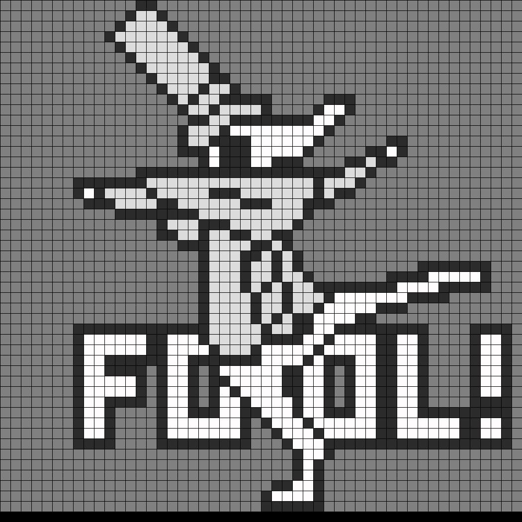 FOOL Excalibur Perler Bead Pattern / Bead Sprite