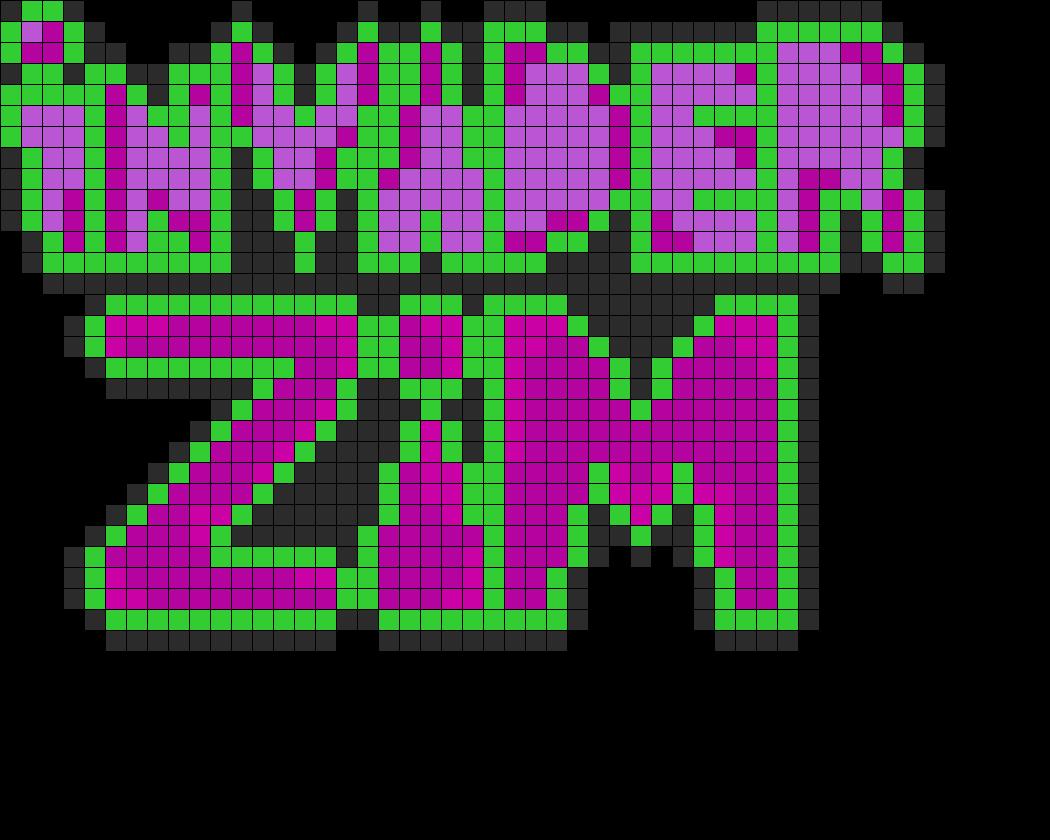 Invader Zim Logo Perler Bead Pattern Sprite