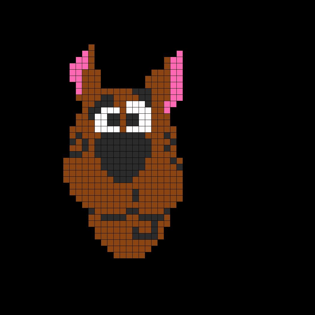 Scoobydoo perler bead pattern / bead sprite