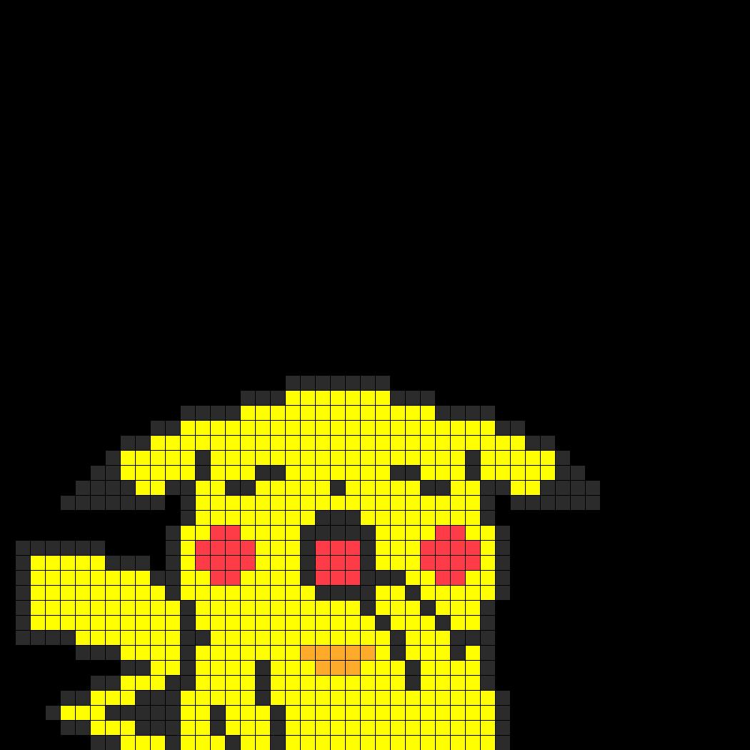 Yawning pikachu fuse bead perler bead pattern bead sprite