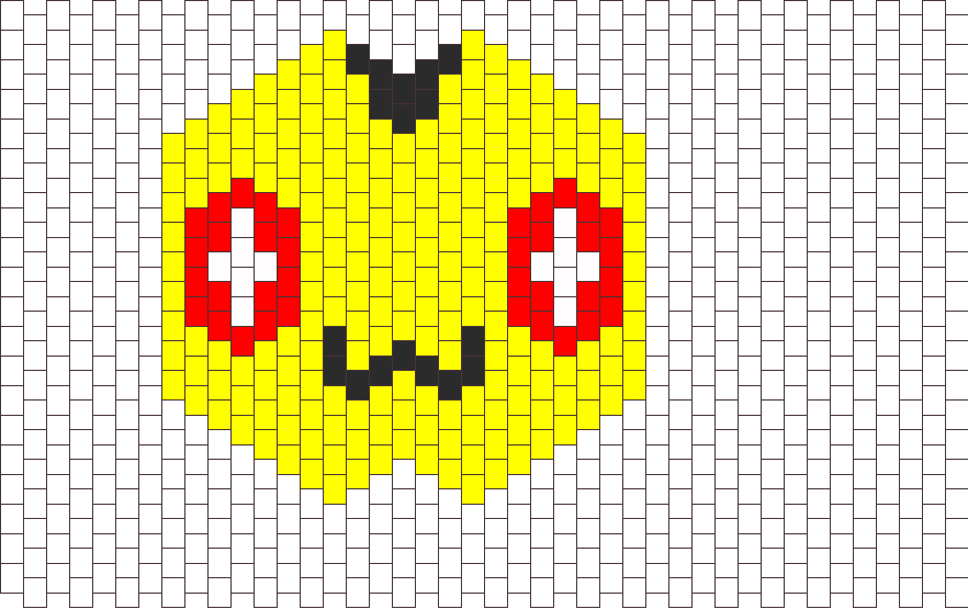 Plusle Mask Pokemon Bead Pattern