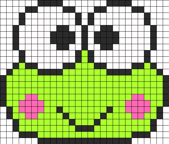 Keroppi Perler Bead Pattern / Bead Sprite