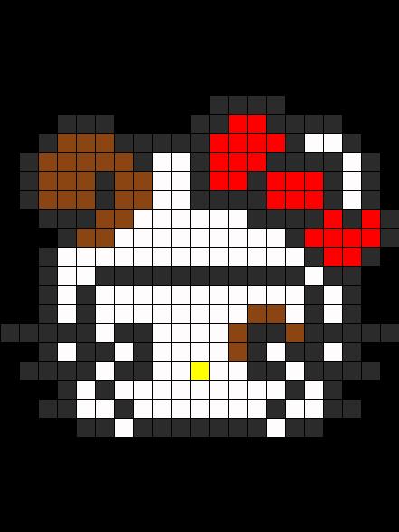 Hello Kitty Dog Costume Perler