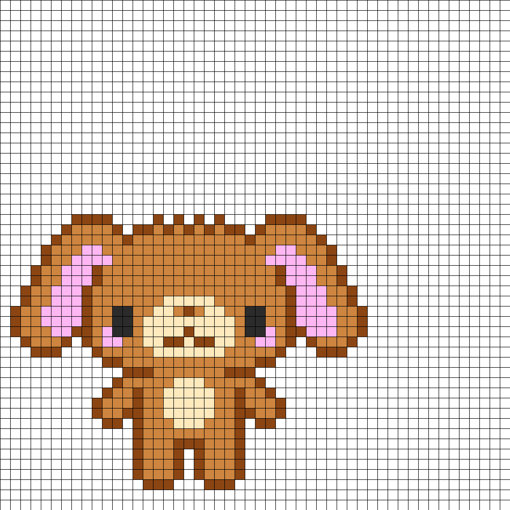 brown sugar bunny perler