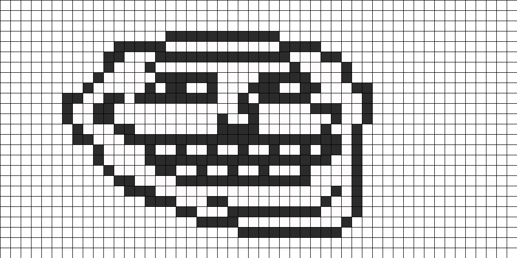 Troll Face Pearler Bead pattern