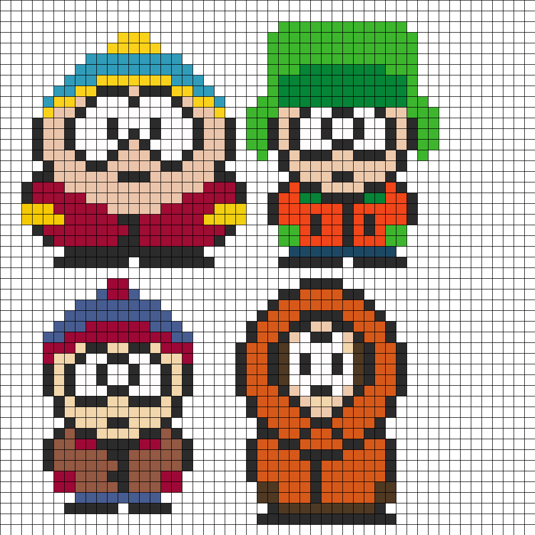 South Park Perler Bead Pattern / Bead Sprite