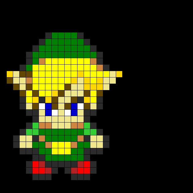 Zelda  Perler Bead Pattern / Bead Sprite